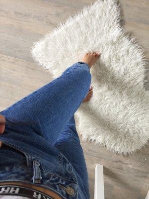 Mom Jeans Zara Mittelblau High Waist
