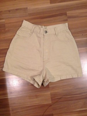 Mom Mum Denim Jeansshorts Shorts Highwaist hoch sand beige Retro 80ies 90ies