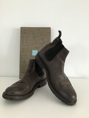 Moma Chelsea Boots grey brown leather