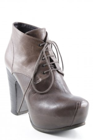 Moma Lace-up Booties brown extravagant style