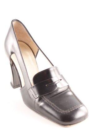 Momenti Loafers zwart zakelijke stijl