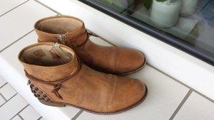 Momino MOMA Boots hellbraun Gr. 37 (38) mit Nieten