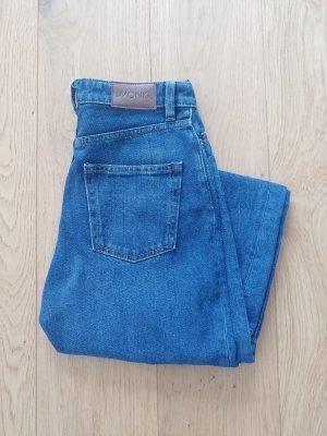 Monki Vaquero estilo zanahoria azul acero Algodón