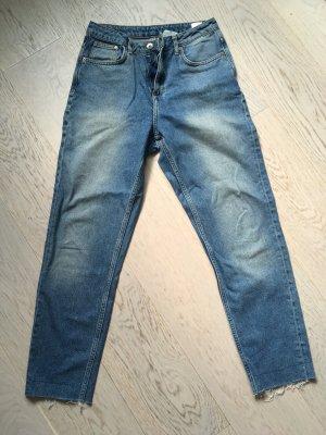H&M Jeans carotte bleu acier