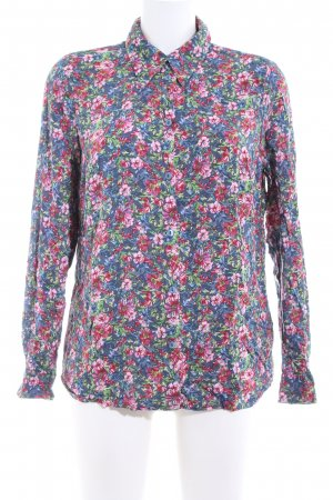 Mona Langarm-Bluse Allover-Druck Business-Look