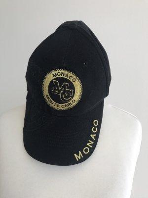 Monaco Kappe Cap Mütze wie NEU schwarz Gold