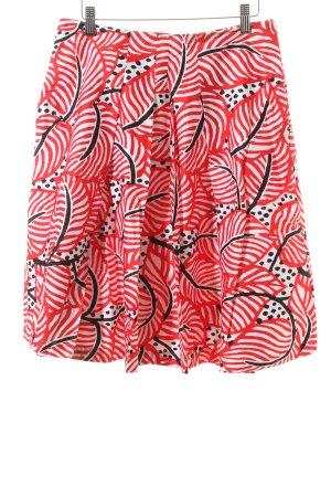 Monari Faltenrock abstraktes Muster Casual-Look