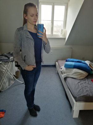 Monari Sweat Jacket light grey-grey