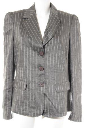 Monari Kurz-Blazer grau-weiß Streifenmuster Business-Look