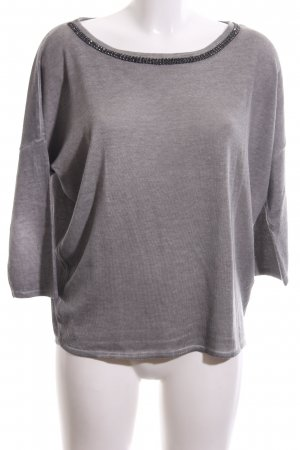 Monari Jersey de manga corta gris claro look casual