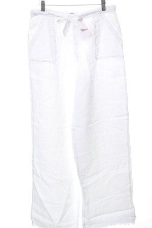 Monari Linnen broek wit casual uitstraling