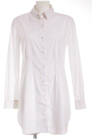 Monari Long-Bluse weiß schlichter Stil
