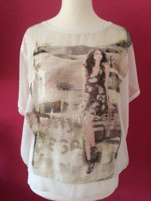 Monari Lang shirt wolwit Polyester