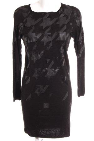 Monari Sweater Dress black-dark grey art pattern street-fashion look