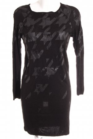 Monari Pulloverkleid schwarz-dunkelgrau Kunstmuster Street-Fashion-Look