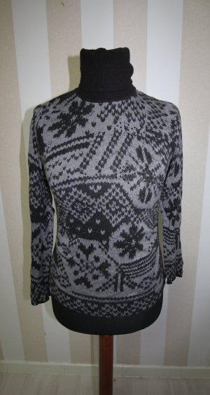 Monari Rollkragen Pullover Sweatshirt mit Angora Anteil