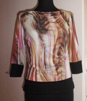 Monari Shirt mit Farbverlauf und Wasserfallausschnitt, Gr. 38