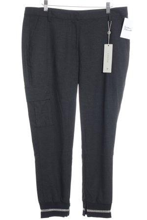 Monari Pantalon en jersey gris anthracite moucheté élégant