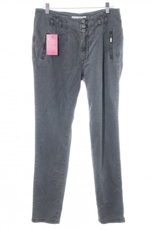 Monari Stretch Jeans dunkelgrau Bleached-Optik