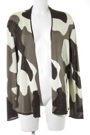 Monari Strick Cardigan abstraktes Muster Casual-Look