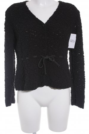 Monari Strickjacke schwarz Casual-Look