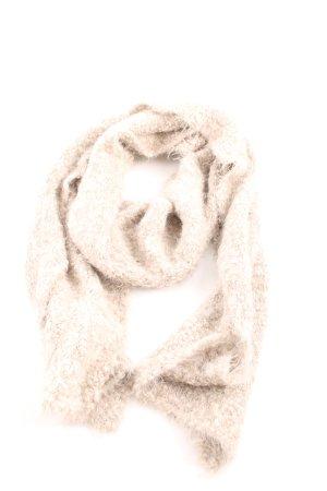 Monari Sciarpa lavorata a maglia crema stile casual