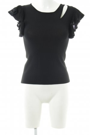 Monari Knitted Top black casual look