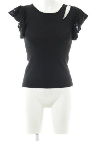 Monari Top lavorato a maglia nero stile casual