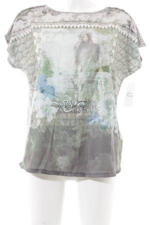 Monari T-Shirt florales Muster Casual-Look