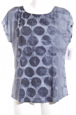 Monari T-Shirt graublau-dunkelblau Punktemuster Casual-Look