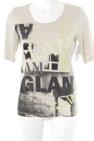 Monari T-Shirt Schriftzug gedruckt schlichter Stil