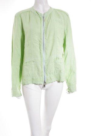 Monari Übergangsjacke grün-silberfarben Casual-Look