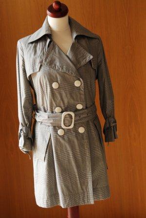 MONCLER 36 klassischer Kurztrench im Sixties-Look kariert Trenchcoat wie Neu