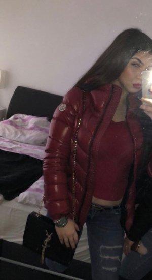 Moncler Down Jacket dark red