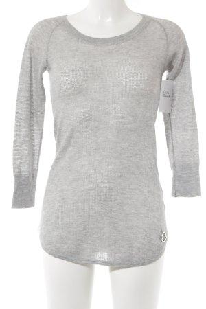 Moncler Pull en cashemire gris clair motif tricoté lâche style décontracté