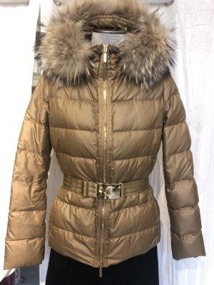 Moncler Damen Jacke Tatie Größe 1 Farbe beige Gold sehr schön geschnitten 100% Original mit separatem Gürtel