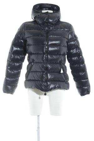 Moncler Down Jacket dark blue casual look