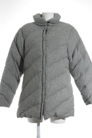 Moncler Daunenjacke grau Steppmuster Casual-Look