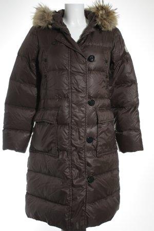 Moncler Daunenjacke graubraun-schwarz klassischer Stil