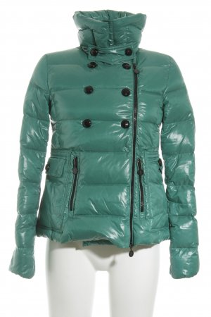 Moncler Daunenjacke mint Steppmuster Street-Fashion-Look