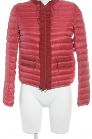 Moncler Down Jacket red-cream simple style
