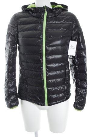 Moncler Daunenjacke schwarz-neongrün Casual-Look