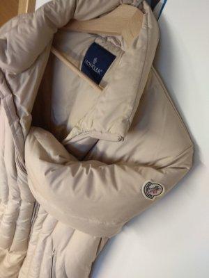 Moncler Abrigo de plumón beige claro