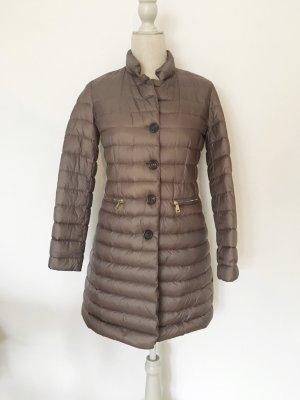 Moncler Manteau en duvet gris brun