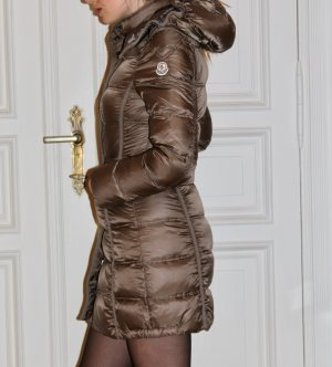 Moncler Down Coat light brown-bronze-colored