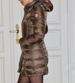 Moncler Manteau en duvet bronze