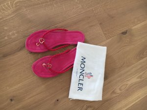 Moncler Sandalo infradito rosa-viola Pelle
