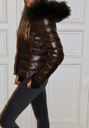 Moncler Grenoble Daunenjacke Bever Fell Gr.1 XS S schokoladenbraun Jacke