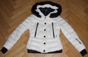 Moncler Grenoble Daunenjacke Bever Gr.3 M 36 38 creme schwarz Skijacke Jacke Ski