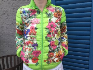 Moncler leichte Daunenjacke Frühling/Sommer grün mit floralem Muster
